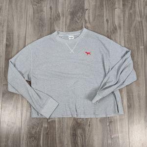 5/$25 VS Pink UNLV Gray Waffle Knit Cropped Shirt